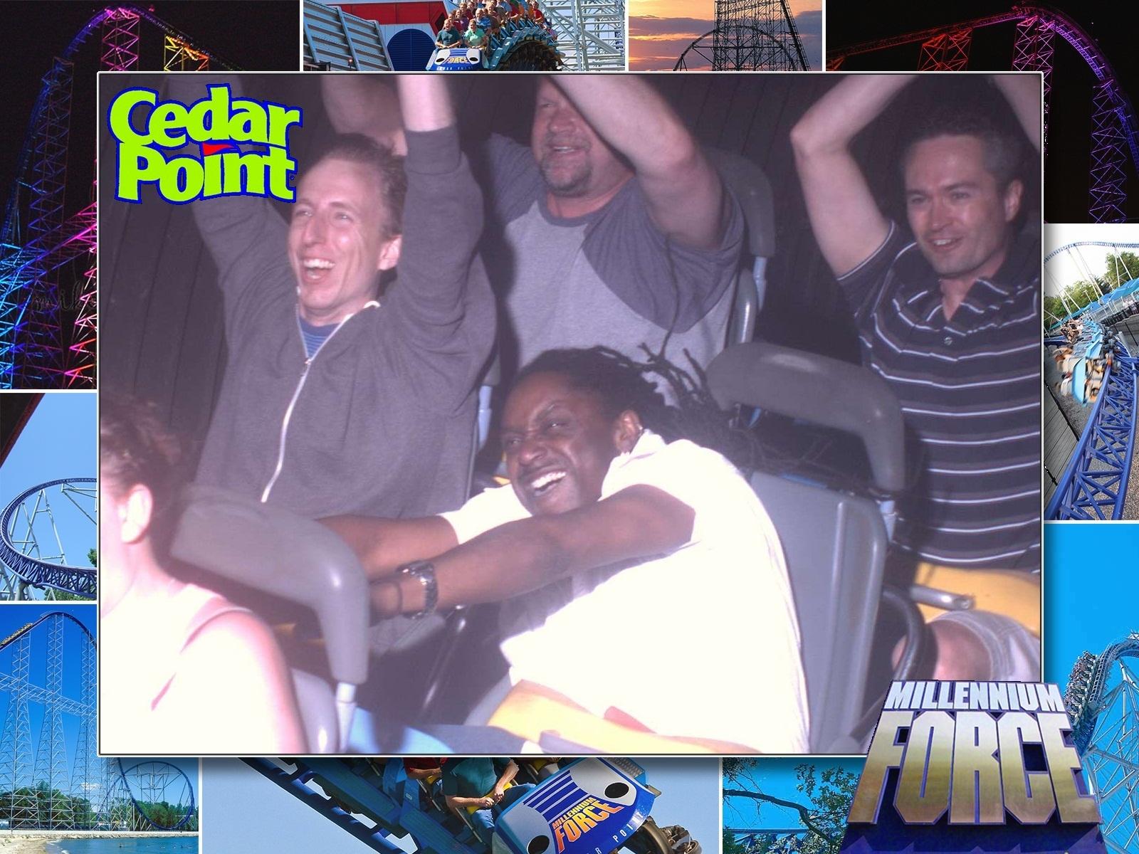 IGI careers team at cedar point roller coaster