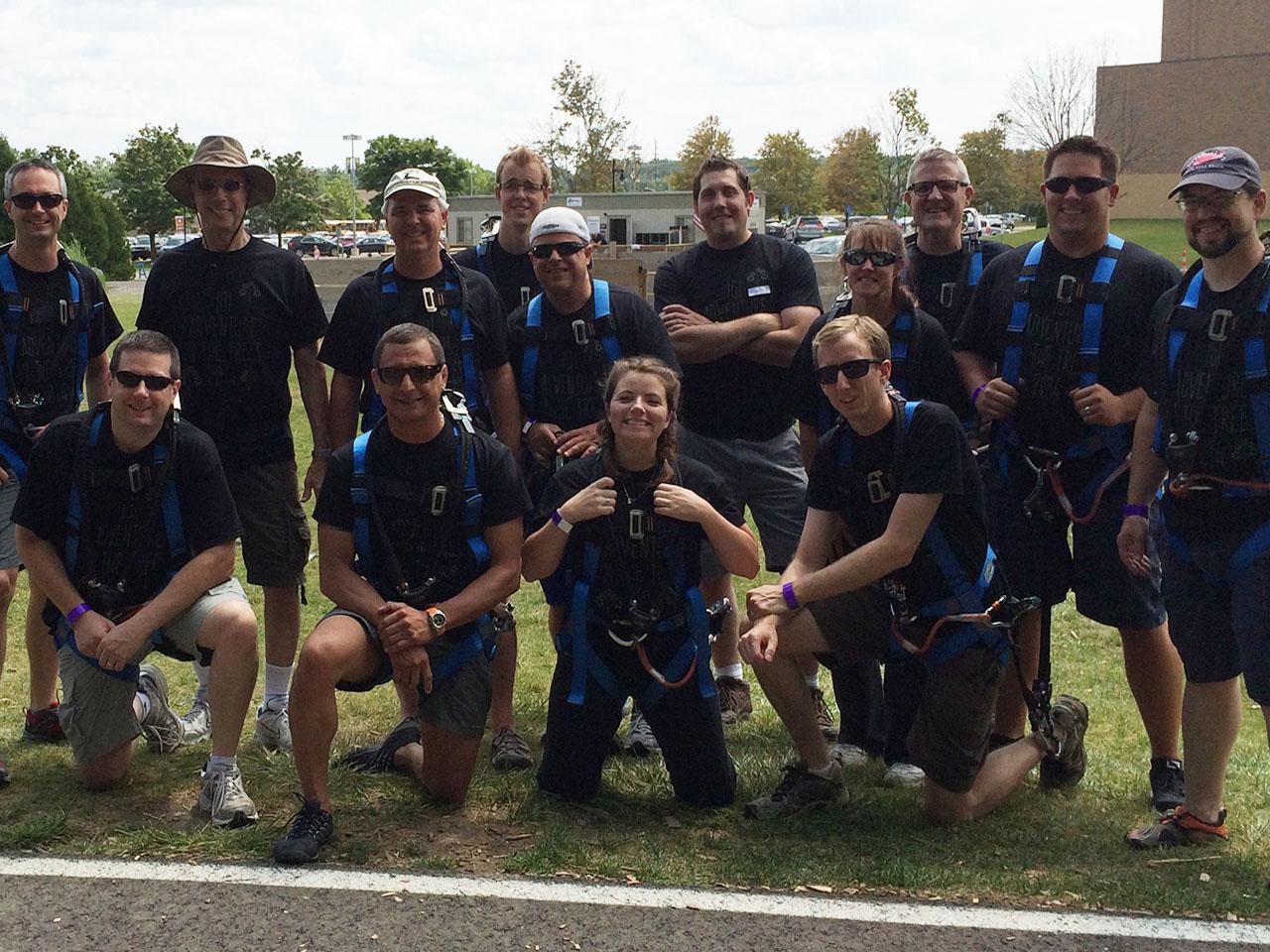 IGI careers team high ropes adventure