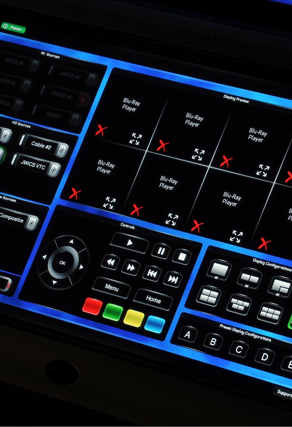 Multimedia control panel