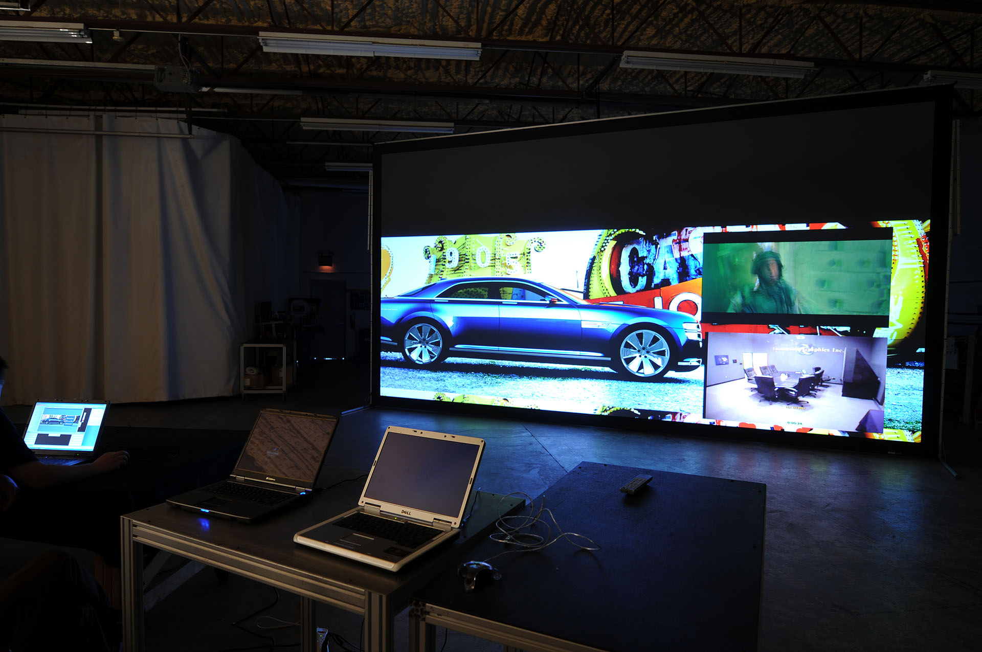 IGI 4K Forum 23' projection powerwall automotive render