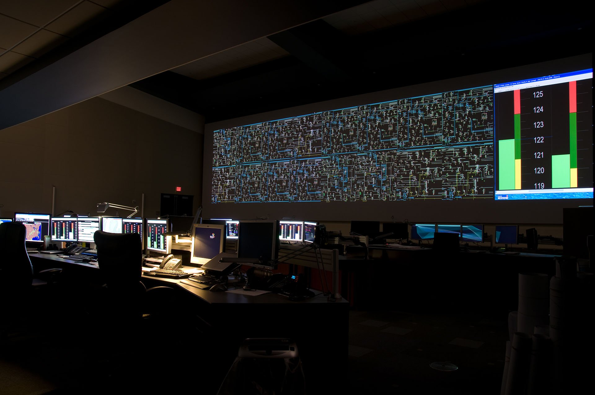 IGI custom command and control room 4K projection