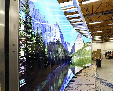 IGI Mobile Curved Sony Crystal LED Wall
