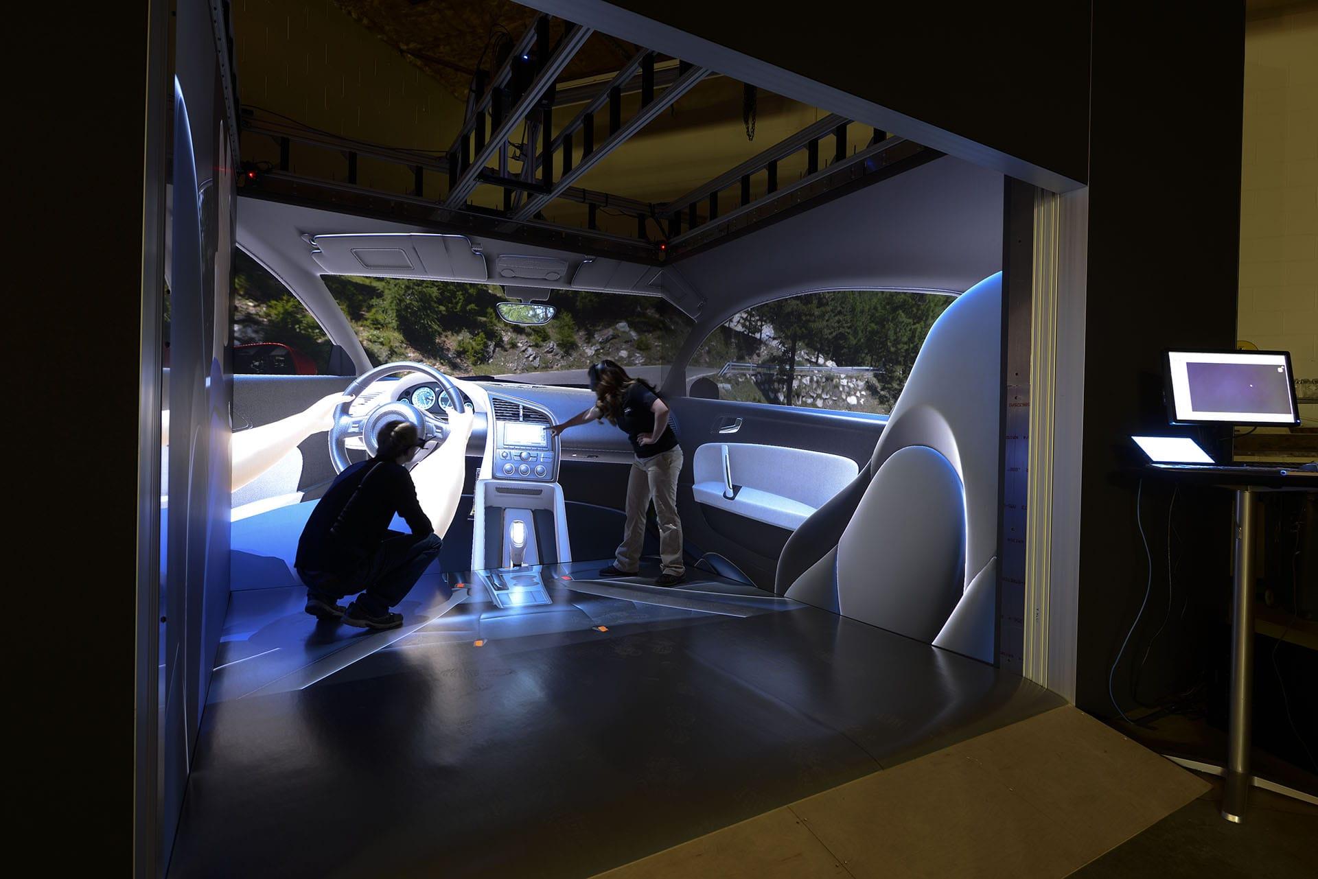 automotive interior design virtual reality projection CAVE