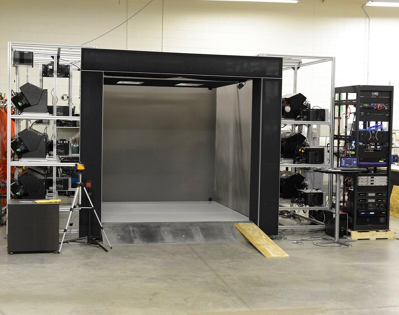 IGI cave virtual reality custom installation system fabrication
