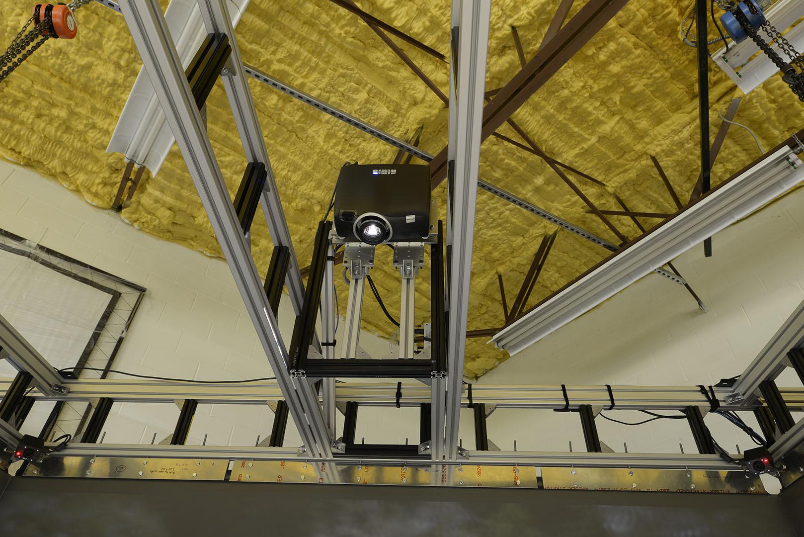 ceiling projector custom fabrication IGI cave 3D technology