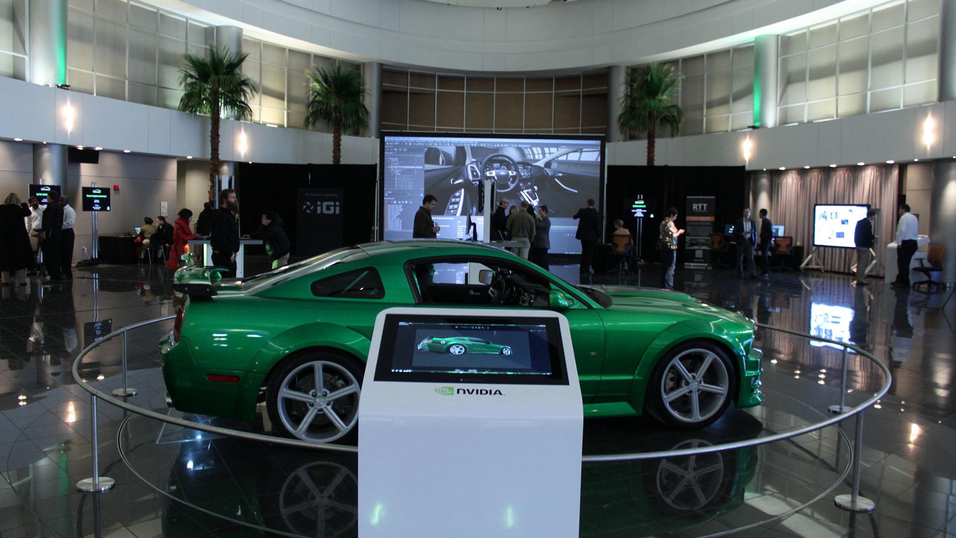 NVIDIA day at Ford IGI 23' 4K powerwall automotive
