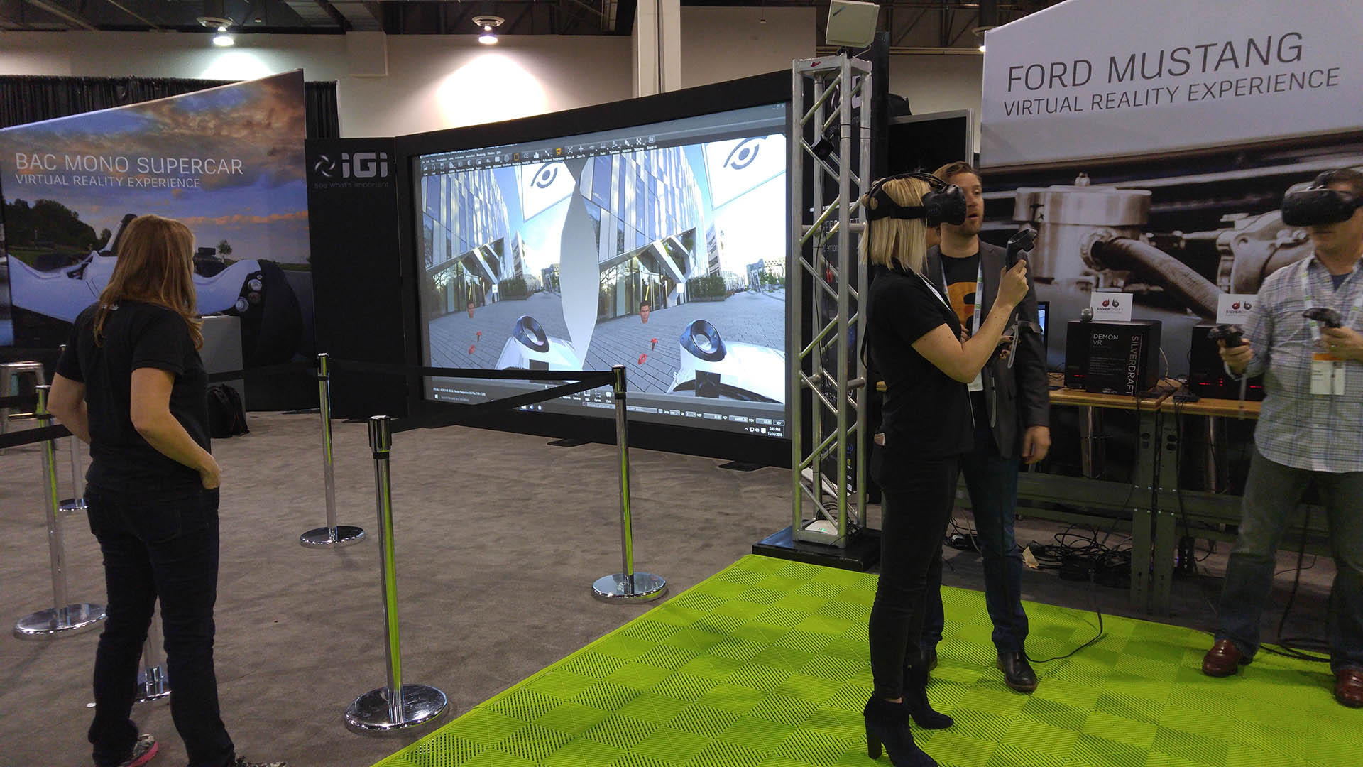 Ford mustang virtual reality expo conference IGI event
