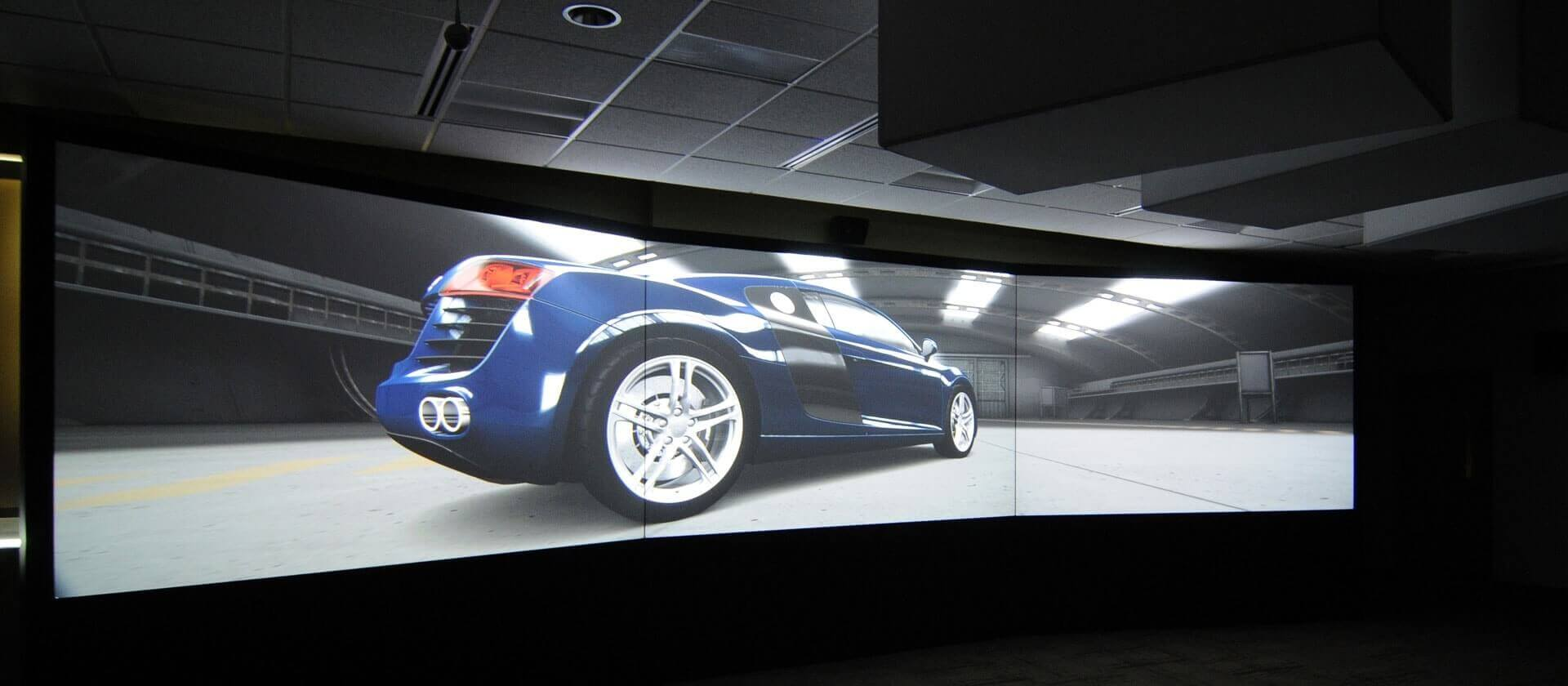 custom large scale high resolution university projection
