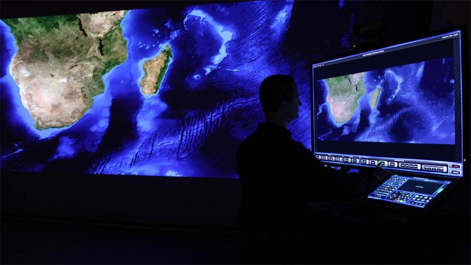 high definition 4k screen AV technology geographical map