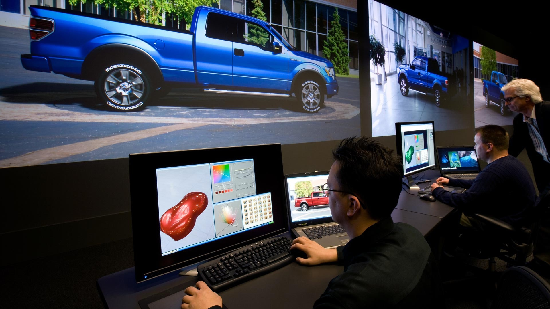 large scale 4K powerwall projection automotive