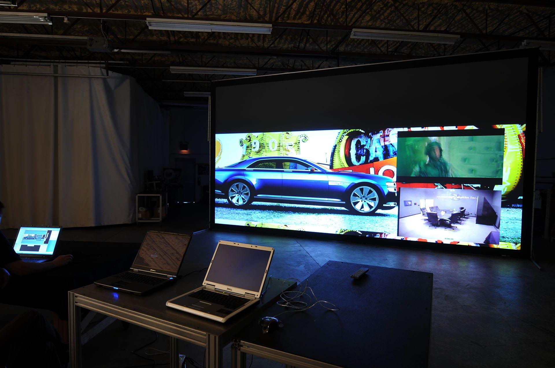 IGI 4K Forum 23' projection powerwall automotive render