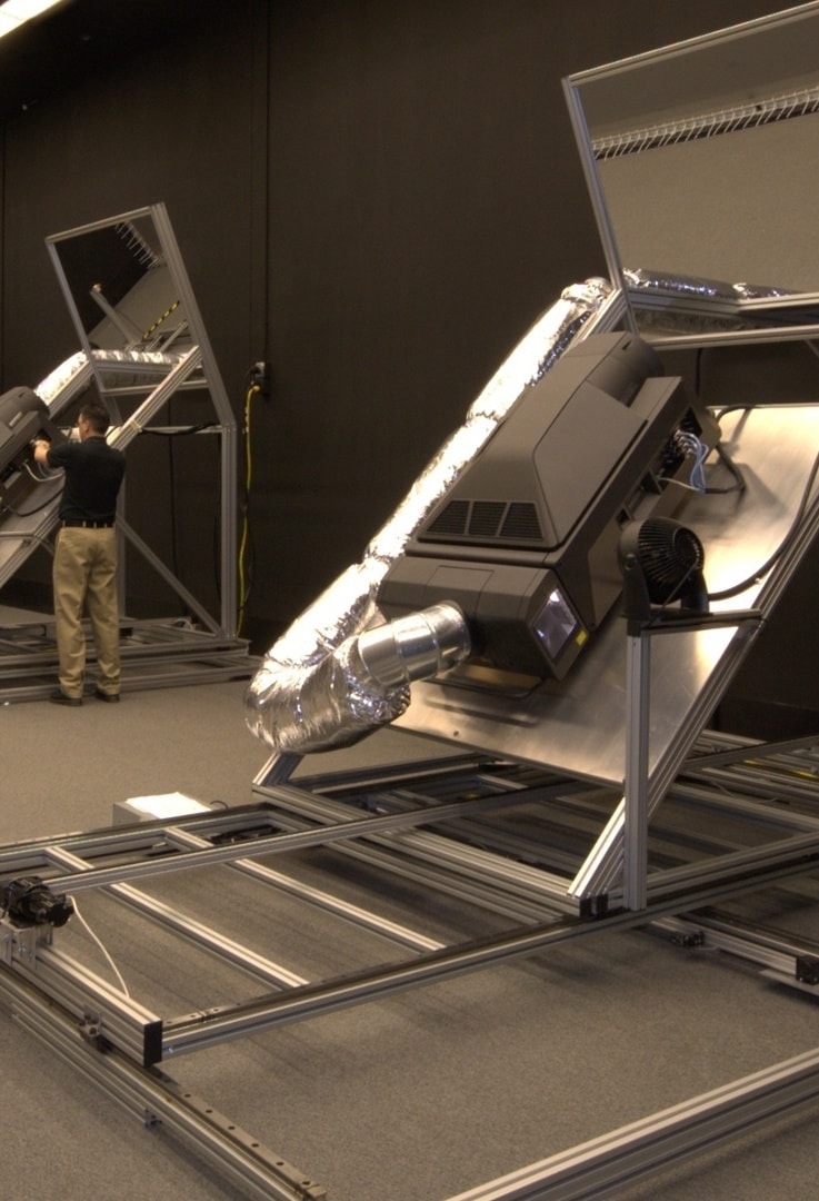 IGI three projector blended 4K powerwall 60 feet wide