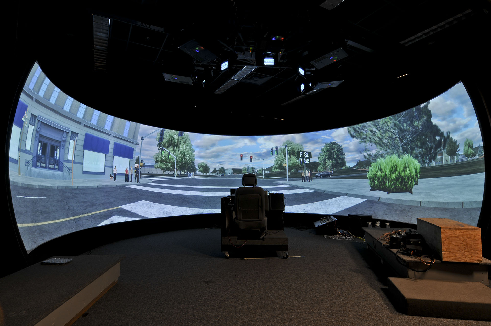 IGI 180 degree projection automotive driving simulator