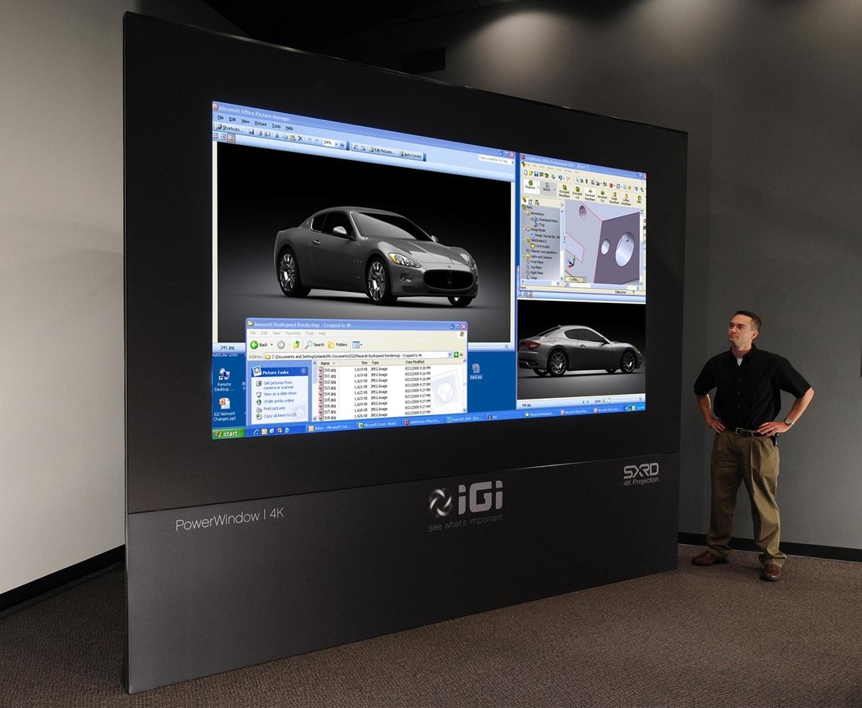 PowerWindow large 4K projection screen presentation