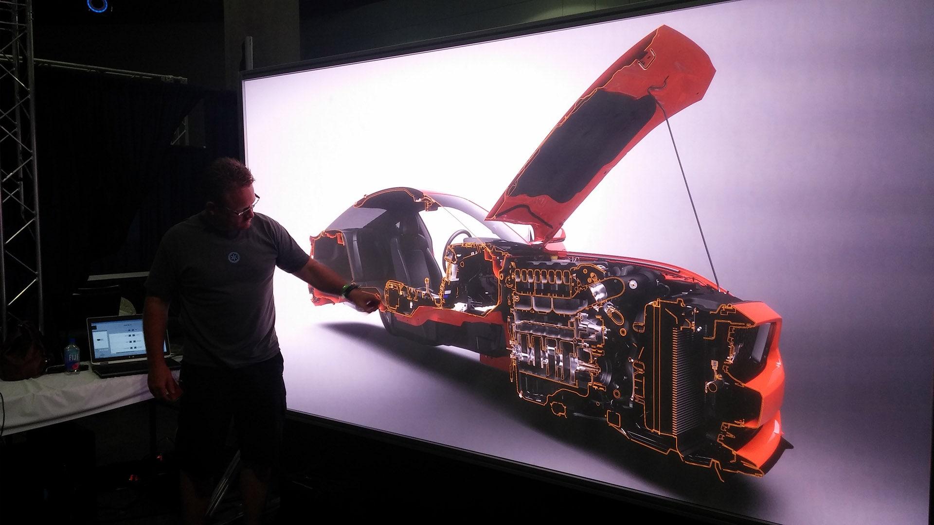 IGI laser powerwall automotive rendering cutaway