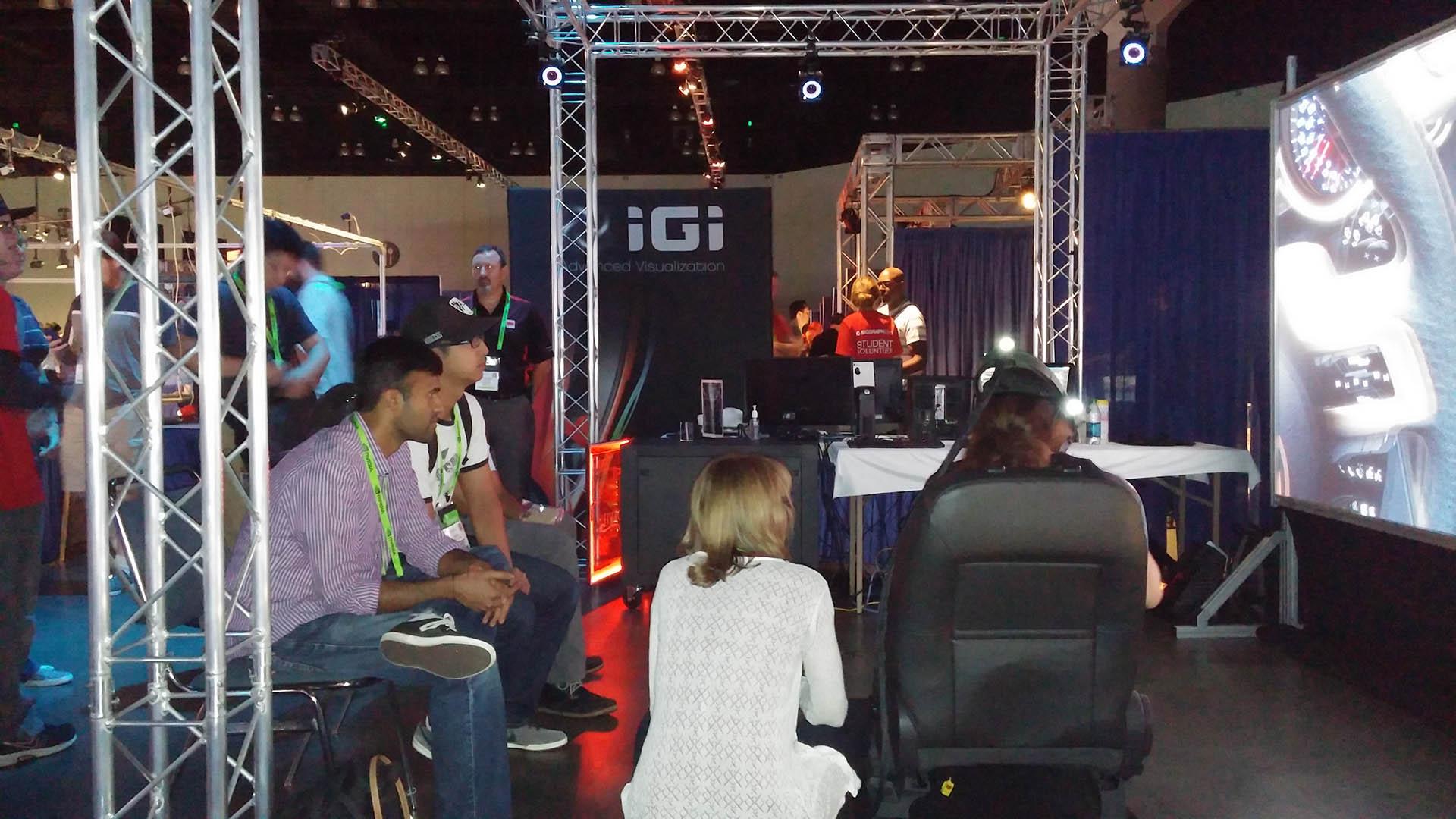 SIGGRAPH emerging technologies 4K laser powerwall VR