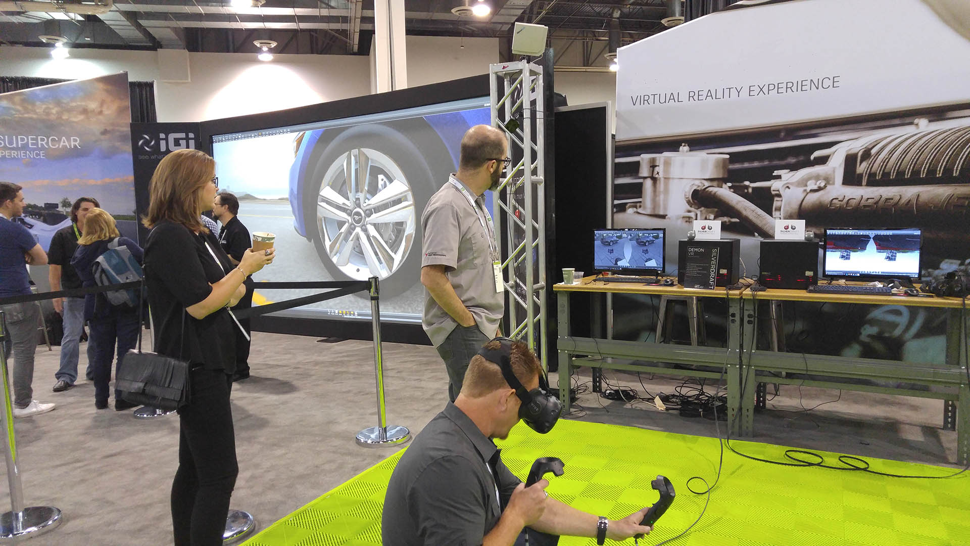 automotive virtual reality experience at Autodesk university