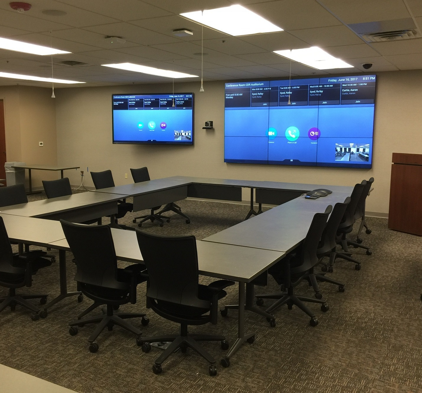 Corporate board room with commercial AV