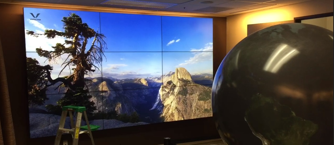 LCD flat panel array in a conference room